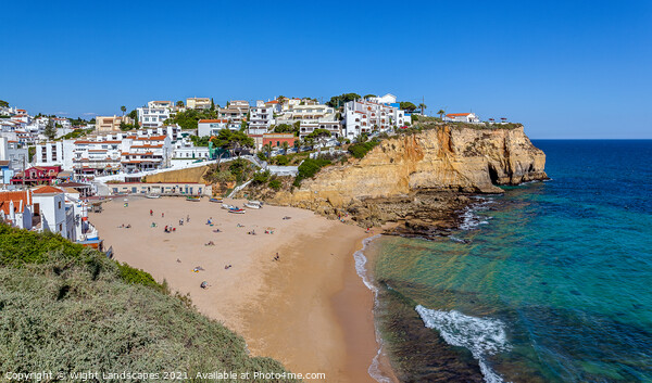 Carvoeiro Beach Algarve Portugal Canvas Print by Wight Landscapes