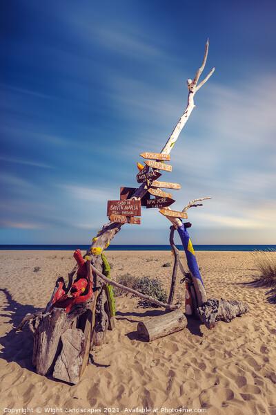 Praia da Ilha Deserta Canvas Print by Wight Landscapes