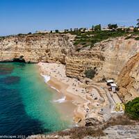 Buy canvas prints of Praia do Vale de Centeanes by Wight Landscapes