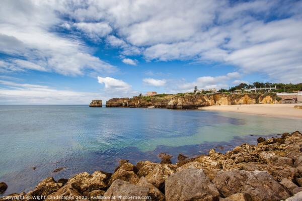 Praia da Batata Lagos Portugal Canvas Print by Wight Landscapes
