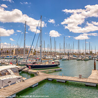 Buy canvas prints of Marina de Lagos by Wight Landscapes