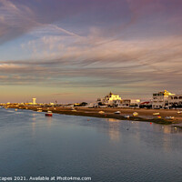 Buy canvas prints of Dusk At Ilha de Faro, Faro Portugal  by Wight Landscapes