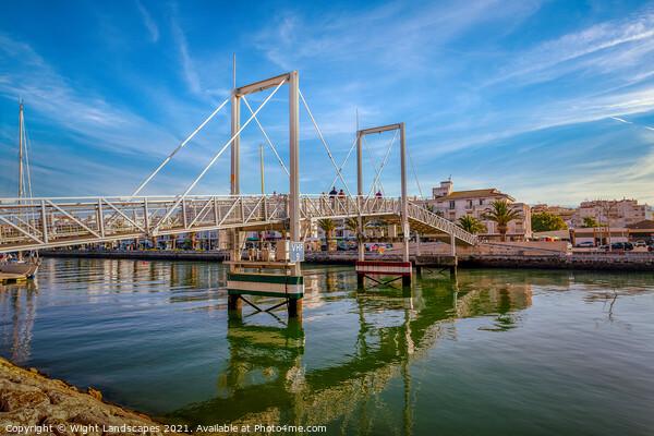 Marina Lagos Lifting Bridge Canvas Print by Wight Landscapes