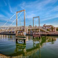 Buy canvas prints of Marina Lagos Lifting Bridge by Wight Landscapes