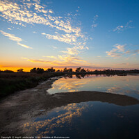 Buy canvas prints of Sunset At Sao Lourenco Algarve Portugal by Wight Landscapes