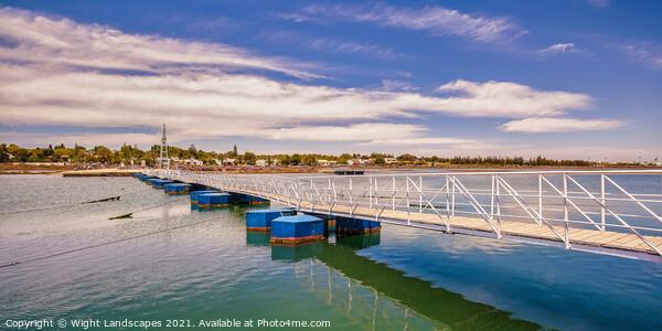Santa Luzia Pontoon Bridge Canvas Print by Wight Landscapes