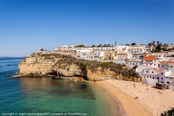 Carvoeiro Algarve Portugal Canvas Print by Wight Landscapes