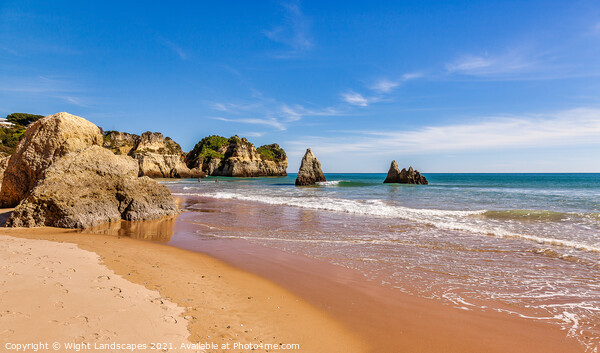 Praia de Alvor Algarve Portugal Canvas Print by Wight Landscapes
