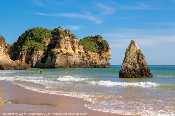 Praia de Alvor Algarve Portugal Canvas Print by Wight Landscapes