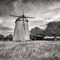Buy canvas prints of Bembridge Windmill Isle Of Wight BW by Wight Landscapes