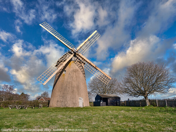 Bembridge Windmill Canvas Print by Wight Landscapes