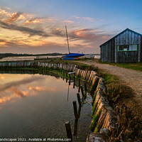 Buy canvas prints of Newtown Boathouse Isle Of Wight by Wight Landscapes