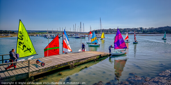 Yarmouth Sailing Club Canvas Print by Wight Landscapes