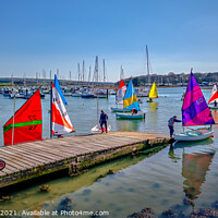 Buy canvas prints of Yarmouth Sailing Club by Wight Landscapes