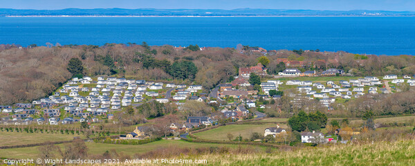 Whitecliff Bay Holiday Park Panorama Canvas Print by Wight Landscapes