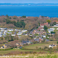 Buy canvas prints of Whitecliff Bay Holiday Park Panorama by Wight Landscapes