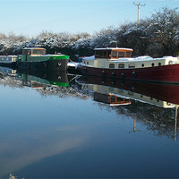 Buy canvas prints of canal boat by jonny england