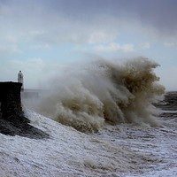 Buy canvas prints of Porthcawl storm  by HELEN PARKER