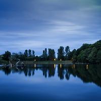 Buy canvas prints of   Llandrindod Wells Lake by Joel Woodward