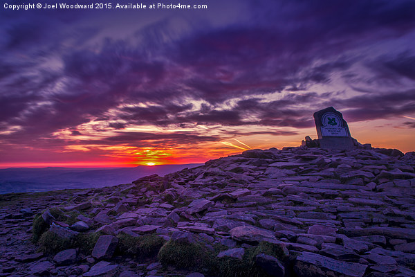 Sunrise From The Top Of Pen Y Fan  Brecon Beacons Canvas print by Joel Woodward
