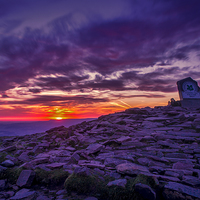 Buy canvas prints of  Sunrise From The Top Of Pen Y Fan  Brecon Beacons by Joel Woodward
