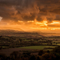 Buy canvas prints of The Wye Valley by Joel Woodward