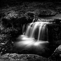 Buy canvas prints of Waterfall Brecon Beacons Black & White by Joel Woodward