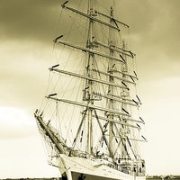 Buy canvas prints of Tall Ship by Dave Hudspeth Landscape Photography