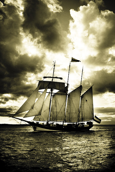 Tall Ship Canvas print by Dave Hudspeth Landscape Photography