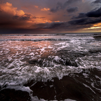 Buy canvas prints of North Sea Sunrise by Dave Hudspeth Landscape Photography