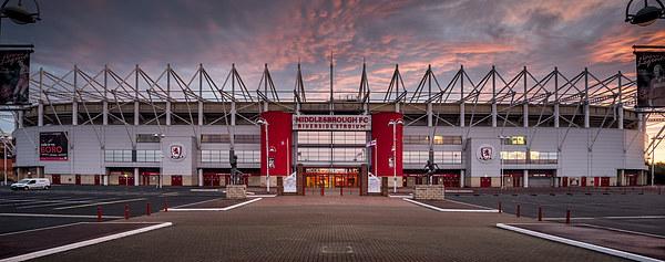 The Riverside Stadium, Middlesbrough Canvas Print by Dave Hudspeth Landscape Photography