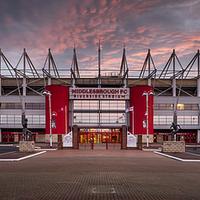 Buy canvas prints of The Riverside Stadium, Middlesbrough by Dave Hudspeth Landscape Photography