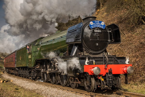 The Flying Scotsman Canvas print by Dave Hudspeth Landscape Photography