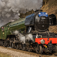 Buy canvas prints of The Flying Scotsman by Dave Hudspeth Landscape Photography