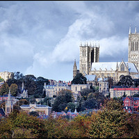 Buy canvas prints of Lincoln Cathedral by Jon Fixter