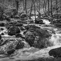 Buy canvas prints of Fast flowing water  by Jon Fixter