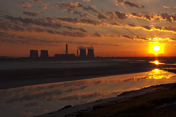 River Mersey Sunrise Canvas print by Paul  Scoullar Wildlife
