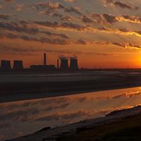 Buy canvas prints of River Mersey Sunrise by Paul  Scoullar Wildlife