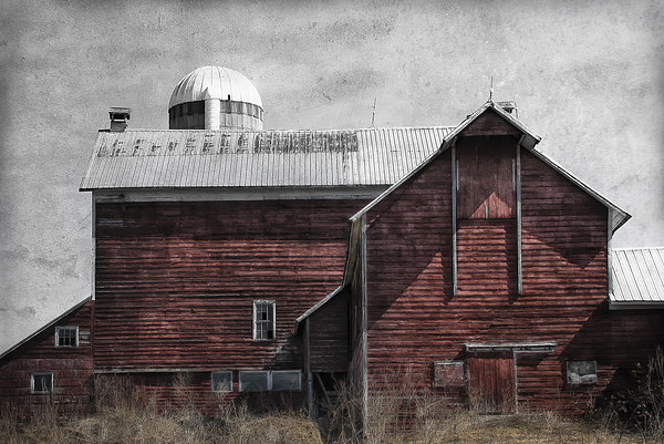 Old Red Barn Canvas print by Mary Lane