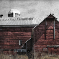 Buy canvas prints of Old Red Barn by Mary Lane