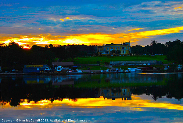 Lough Erne or Loch Erne Canvas print by Kim McDonell
