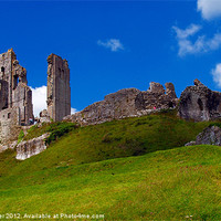 Buy canvas prints of Corfe Castle by Mike Streeter