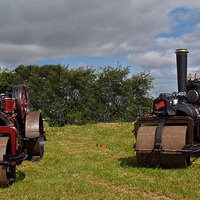 Buy canvas prints of  Fowler Road Rollers by Mike Streeter