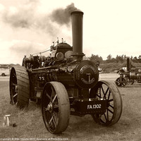 Buy canvas prints of Fowler Ploughing Engine by Mike Streeter