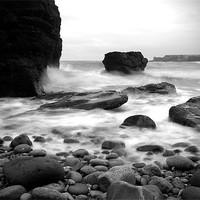 Buy canvas prints of Castlesea Bay near Arbroath by Ian Potter