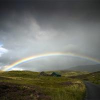 Buy canvas prints of Rainbow on Glen Lyon by Ian Potter