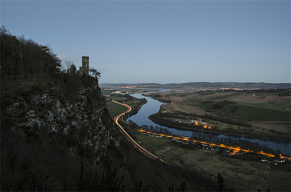 Kinnoull Hill Light Trails Canvas print by Ian Potter