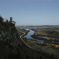 Buy canvas prints of Kinnoull Hill Light Trails by Ian Potter