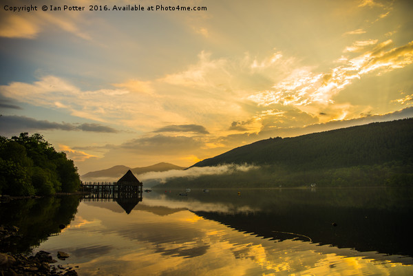 The Crannog, Loch Tay Canvas Print by Ian Potter