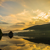Buy canvas prints of The Crannog, Loch Tay by Ian Potter